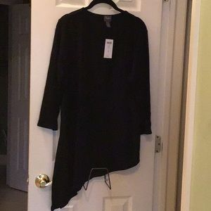 NWT black Chico's Travelers tunic top